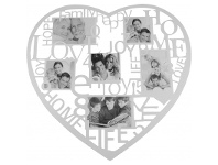 LivingStyles Heart Collage Photo Frame - White