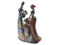 LivingStyles African Ladies Fountain - 35cm