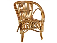 LivingStyles Tisbury Rattan Armchair - Natural