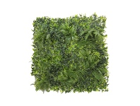 LivingStyles Artificial Variegated Foliage Wall Mat, Type A, 100cm