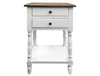 LivingStyles Vasteville 2 Tone Bedside Table