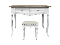LivingStyles Vaujours 2 Tone Dressing Table with Chatou Dressing Stool