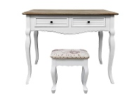 LivingStyles Vaujours 2 Tone Dressing Table with Cachan Dressing Stool