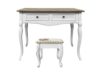 LivingStyles Vaujours 2 Tone Dressing Table with Carville Dressing Stool