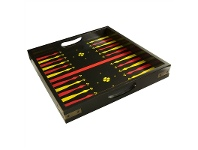 LivingStyles Backgammon Solid Timber Serving Tray