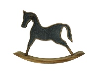 LivingStyles Bosco Solid Timber and Metal Rocking Horse Decor