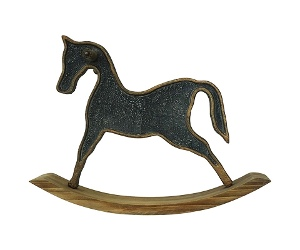 Bosco Solid Timber and Metal Rocking Horse Decor