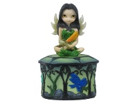 LivingStyles Jasmine Becket-Griffith's Strangeling Fairies Trinket Box, Guardian of the Woods