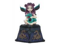 LivingStyles Jasmine Becket-Griffith's Strangeling Fairies Trinket Box, Storm Dragon