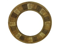 Ohawe Recycled Timber Frame Round Wall Mirror