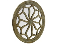 LivingStyles Sassari Solid Timber Frame Round Wall Mirror