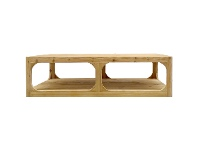 LivingStyles Havana Pine Timber Coffee Table, 150cm, Natural