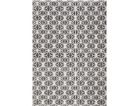 LivingStyles Fruzan Valence Turkish Made Modern Rug, 160x230cm, Charcoal / Cream