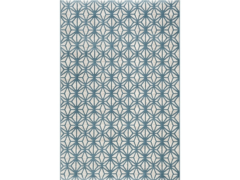 Fruzan Valence Turkish Made Modern Rug, 160x230cm, Turquoise / Cream