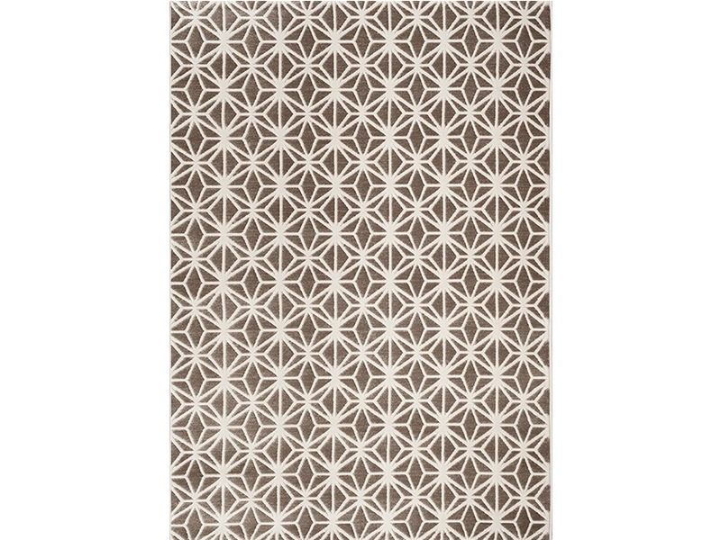 Fruzan Valence Turkish Made Modern Rug, 200x290cm, Chocolate / Cream