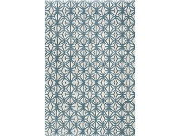 LivingStyles Fruzan Valence Turkish Made Modern Rug, 240x330cm, Turquoise / Cream