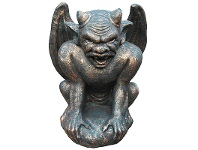 LivingStyles Monster Face Gargoyle Cast Iron Statue