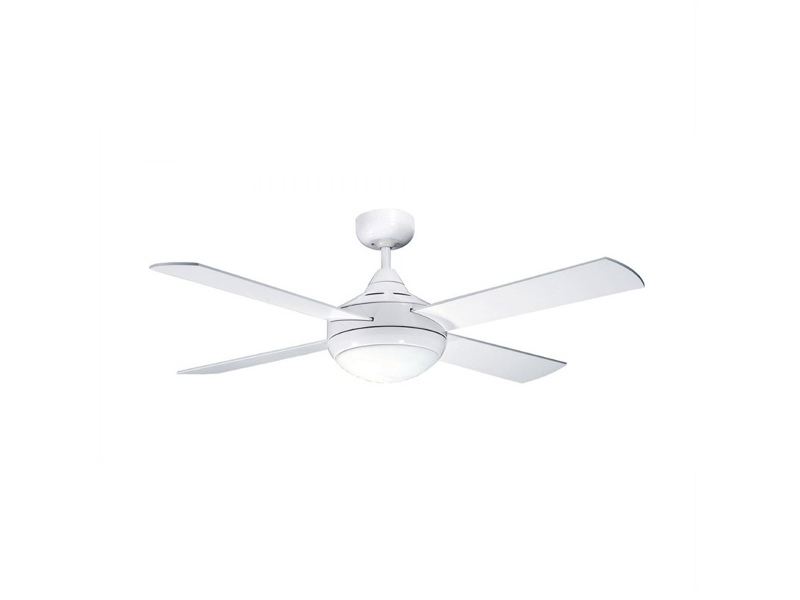 Martec Four Seasons Primo Ceiling Fan (FSP1244W) with Twin Light E27 in White