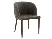 LivingStyles Gigi Quilted Fabric Bucket Dining Chair, Pewter