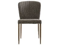 LivingStyles Leila Fabric Dining Chair, Pewter