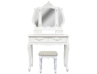 LivingStyles Ecoles Dressing Table with Chatou Dressing Stool