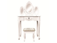 LivingStyles Ivry Dressing Table with Ecoles Dressing Stool