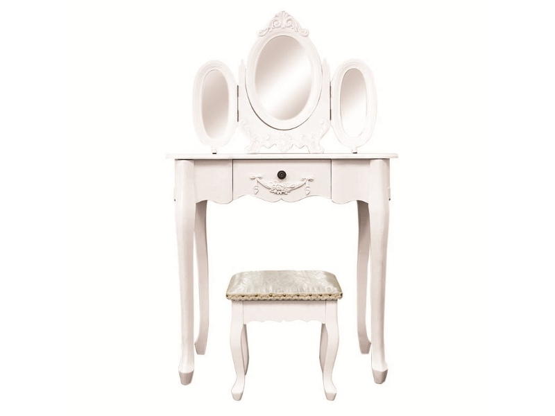 Ivry Dressing Table with Ecoles Dressing Stool