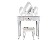 LivingStyles Ivry Dressing Table with Carville Dressing Stool