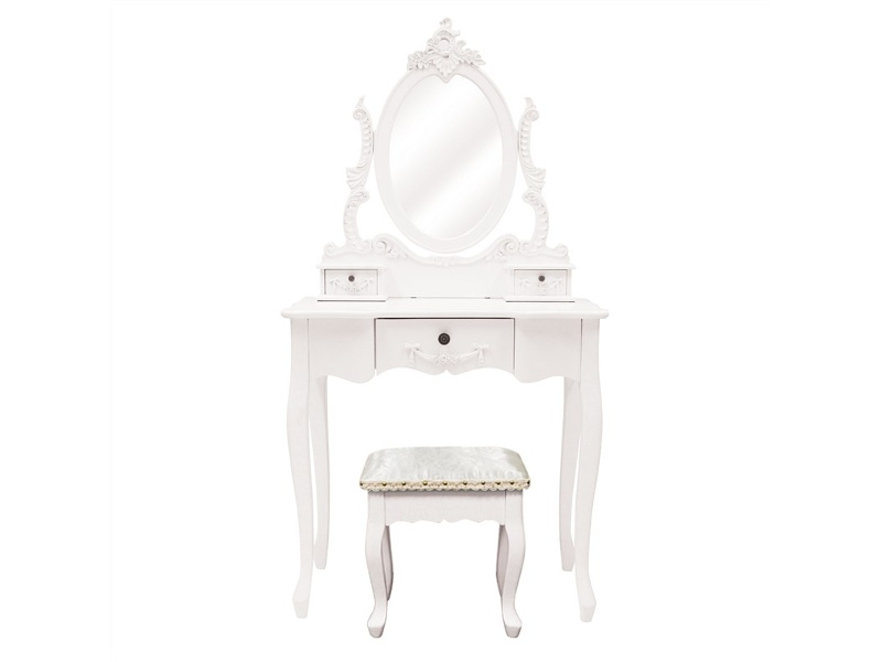 Cachan Dressing Table with Ecoles Dressing Stool