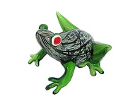 LivingStyles Hand Made Glass Art Figurine - Frog C
