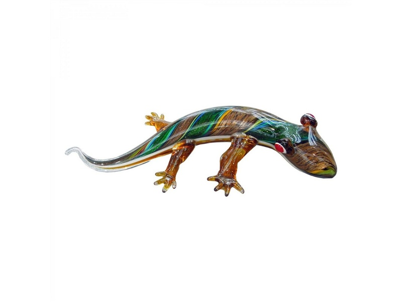 Hand Made Glass Art Figurine - Tounge Lizard