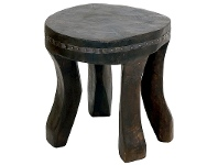 LivingStyles Tribal Solid Timber Low Stool