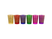LivingStyles Erciyess Set of 6 Assorted Turkish Glasses