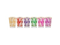 LivingStyles Gediris Set of 6 Assorted Turkish Glasses