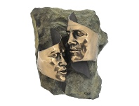LivingStyles Veronese Cold Cast Bronze Coated Tender Love Wall Plaque