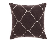 LivingStyles Brando Hand Embroidered Mosaic Cotton Scatter Cushion - Brown