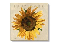 LivingStyles Bayport Stretched Canvas Wall Art Print, Sunflower, Small