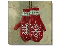 LivingStyles Bayport Stretched Canvas Wall Art Print, Mittens, Small