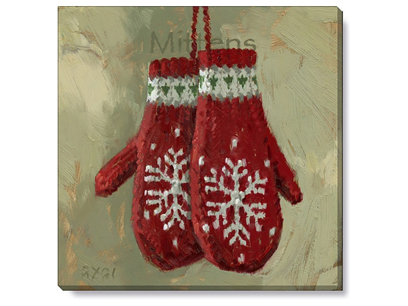 Bayport Stretched Canvas Wall Art Print, Mittens, Small