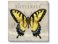 LivingStyles Bayport Stretched Canvas Wall Art Print, Butterfly, Medium
