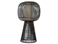 LivingStyles Bungalow Bamboo Rattan Table Lamp
