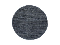 LivingStyles Gypsy Hand-tied Leather Round Rug, 160cm, Grey