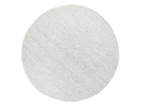 LivingStyles Gypsy Hand-tied Leather Round Rug, 240cm, White