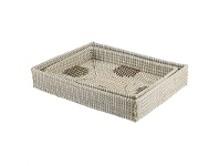 LivingStyles Coosan Cross and Valley 2 Piece Seagrass Tray Set