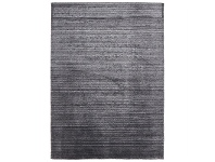 LivingStyles Manhattan Hand Made Wool Rug in Charcoal - 225x155cm