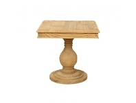 LivingStyles Canonbury Solid Pine Timber Square End Table, Natural
