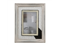 LivingStyles Leta 4x6 Inch Wooden Photo Frame with Wire Detail