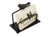LivingStyles Cilla Rustic Metal Business Card Holder