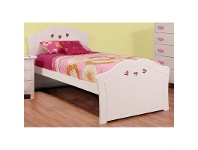 LivingStyles Hearts Wooden Bed, Single
