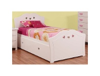 LivingStyles Hearts Wooden Bed with Trundle, Single
